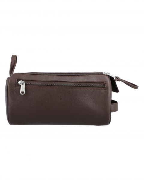 Debussy Large Toiletry Case-Brown Silver-7202152902
