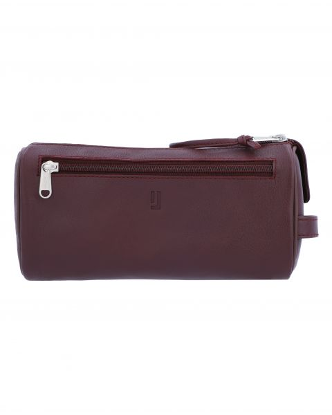 Debussy Large Toiletry Case-Burgundy Silver-7202152904