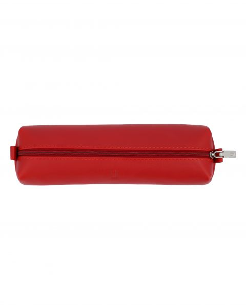 Soft Leather Pouch-Red Silver-3074812124