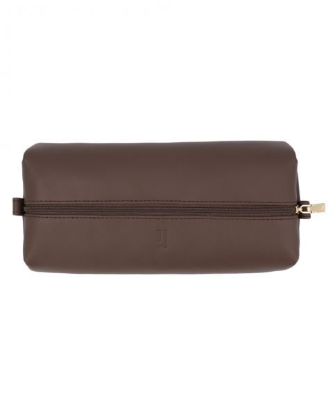Large Leather Pouch-Brown Gold-3128811102