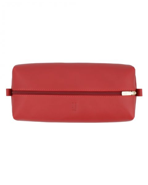 Large Leather Pouch-Red Gold-3128811124