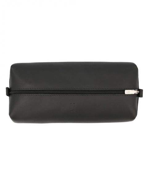 Large Leather Pouch-Black Silver-3128812101
