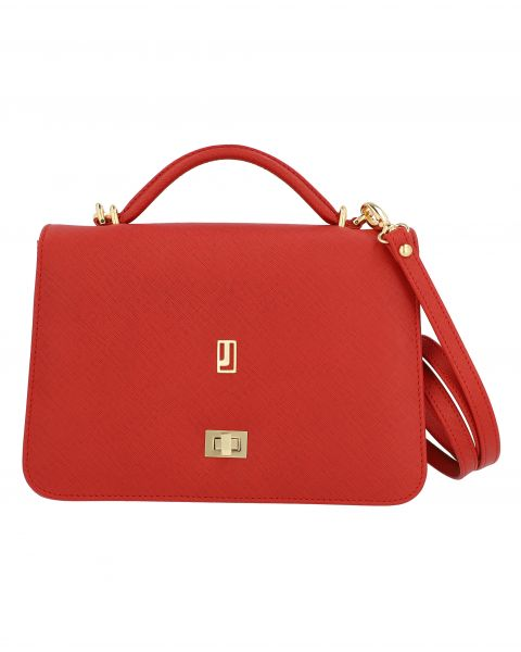 The Hibiscus Handbag-Red Gold-4101551024