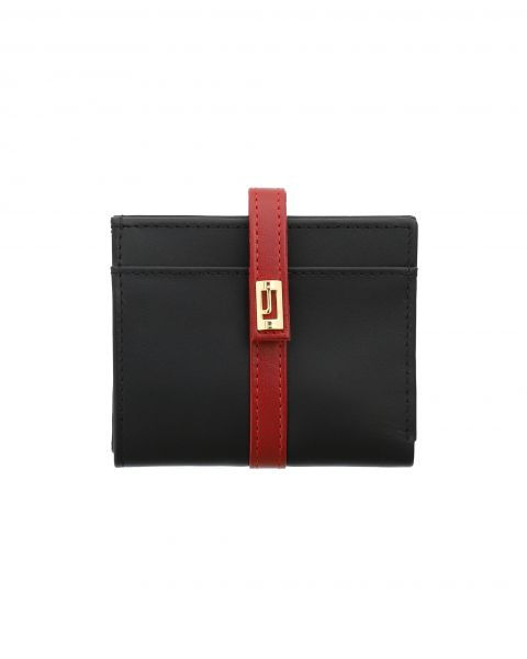 The Valley Rust Compact Wallet-Black & Red-1