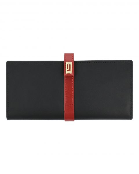 The Valley Rust Long Wallet-Black & Red