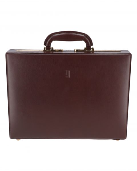 The Abbey Road Briefcase-Maroon Antique Gold-5390271420