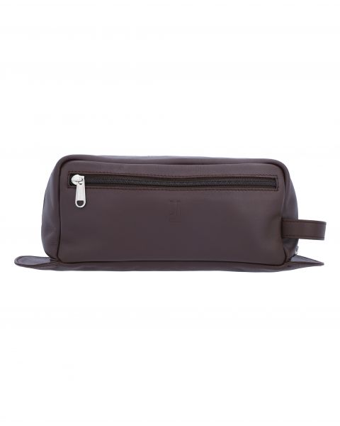 Mozart Travel Toiletry Case-Brown Silver-7133152902